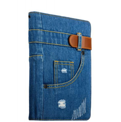 "Чехол XOOMZ для New iPad 2017г. (9,7"") Denim Notebook Popular (Magnetic Closure and Stand Function) (XID707) джинсовый"