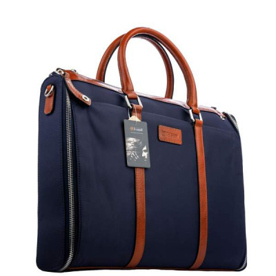 "Кейс для ноутбука до 15"" i-Carer 400x300x35mm Travel and Business Handbag (Dual-use) (RDN-01-B1) оранжево-синяя"