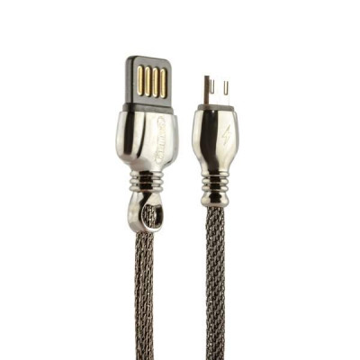 USB дата-кабель Remax King Data Cable (RC-063m) microUSB fast charging 2.1A круглый (1.0 м) Черный