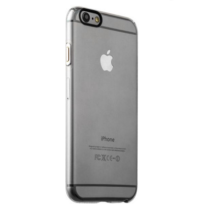 Накладка пластиковая iBacks Inherent Jacket Transparent Case для iPhone 6s Plus/ 6 Plus (5.5) - (ip60311) кнопка Silver