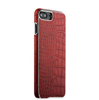 "Накладка кожаная XOOMZ для iPhone 8 Plus/ 7 Plus (5.5"") Electroplating Crocodile Embossed Genuine (XIP7010red) Красная"