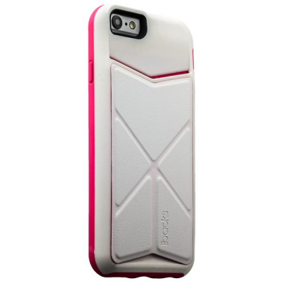 Накладка-подставка iBacks Premium PC Case для iPhone 6s/ 6 (4.7) - Don Quixote Windmill (ip60047) White/Pink