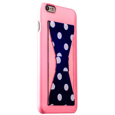 Накладка-подставка iBacks Bowknot Series PC Case для iPhone 6s Plus/ 6 Plus (5.5) (60336) Pink/ Dots