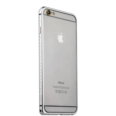 Бампер металлический iBacks Aircraft Grade Aluminum Bumper with Diamond для iPhone 6s Plus (5.5) (ip60225) Silver