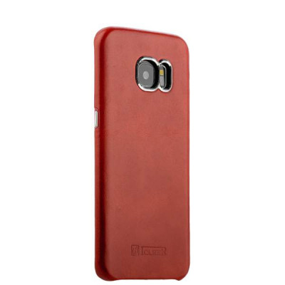 Накладка кожаная i-Carer для Samsung GALAXY S7 edge Vintage Back Cover Series (RS980006red) Красная