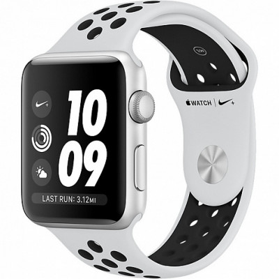 Apple Watch Series 3 Nike+ 42mm (GPS) Silver Aluminum Case with Pure Platinum/Black Nike Sport Band MQL32