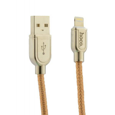 USB дата-кабель Hoco U15 Eminently lucidity Lightning (1.0 м) Золотой