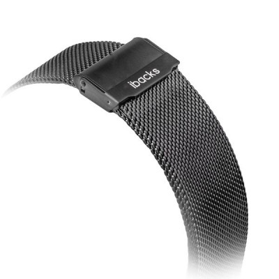 Ремешок из нержавеющей стали iBacks Double-buckle Stainless Steel Watchband для Apple Watch 38мм - (ip60238) Black - Черный