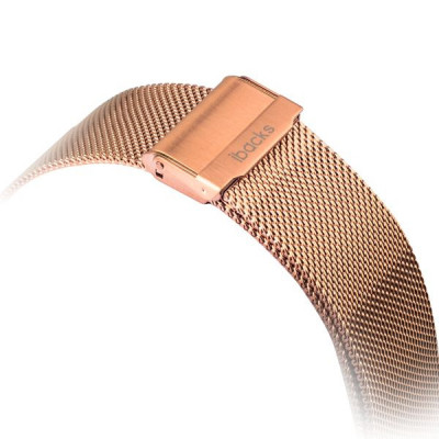 Ремешок из нержавеющей стали iBacks Double-buckle Stainless Steel Watchband для Apple Watch 38мм - (ip60227) Gold - Золото