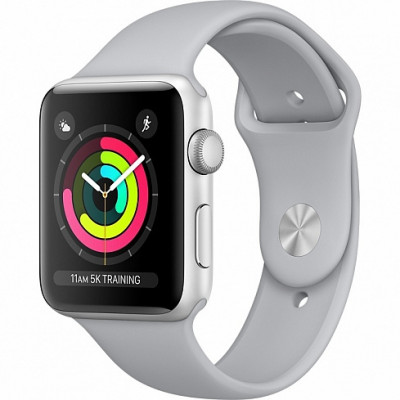 Apple Watch Series 3 38mm (GPS) Silver Aluminum Case with Fog Sport Band MQKU2