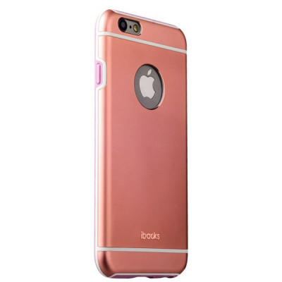 Накладка металлическая iBacks Ares Armour Aluminum Case для iPhone 6s Plus/ 6 Plus (5.5) (ip60285) Rose Gold