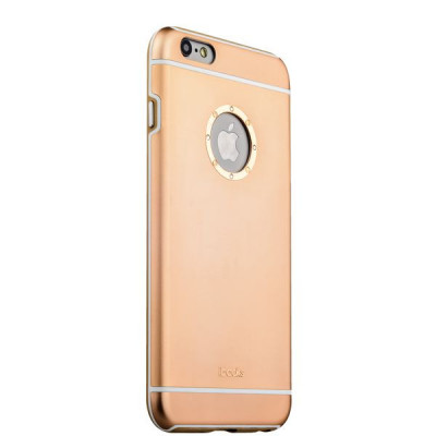 Накладка металлическая iBacks Ares Armour Love Aluminum Case with Crystal Diamond для iPhone 6s Plus (5.5) - (ip60290) Gold