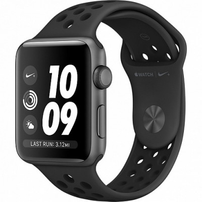 Apple Watch Series 3 Nike+ 42mm (GPS) Space Gray Aluminum Case With Anthracite/Black Nike Sport Band MQL42