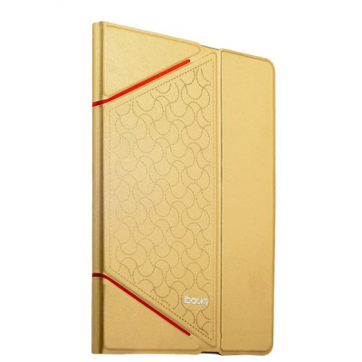 Чехол iBacks iFling VV Structure Leather Case for iPad Air2 - Business Series (ip60098) Champagne Gold Золотистый